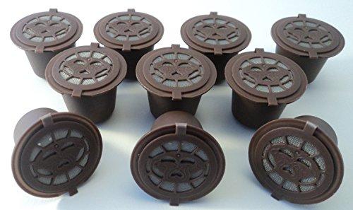 10 cápsulas Coffee2u recargables de café para Nespresso