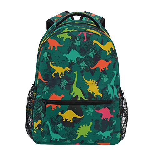 JUMBEAR Mochila de lona para niños, diseño de dinosaurio, de camuflaje, para viajes, para estudiantes, de escuela, de negocios, impermeable, para mujeres, hombres y mujeres
