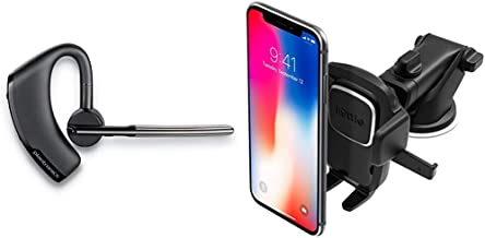 Plantronics Voyager Legend Wireless Bluetooth Headset - Black- Frustration Free Packaging & iOttie Easy One Touch 4 Dash & Windshield Car Mount Phone Holder || for iPhone