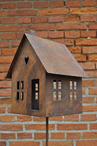 Gerry vogelhuisje voederplaats huis om neer te zetten lantaarn metaal roest decoratie kaarsenhouder vogel wilde vogels