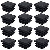 DXLing 40 Piezas Tapones de Plástico Negro 20 x 20m Cuadrados Alfombrilla Antideslizante Tapas de...