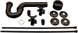 Westbrass Traditional Pedestal Lavatory Kit with Cross Handles, Oil Rubbed Bronze, D1838L-12