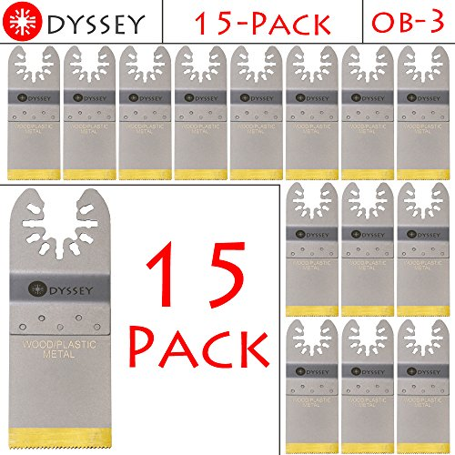Purchase Odyssey Titanium Bi-Metal Oscillating Multitool 1-3/8 Wide Wood Plastic Saw Blade Fits Fei...