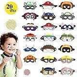 Paw Dog Patrol Spielzeug Puppy Party Masken 20 Stück Kinder Cosplay Masken Cosplay Party Masken Geburtstag Augen Masken passen für Oster Geschenke Dress Up Party Supplies für Kinder Geschenke