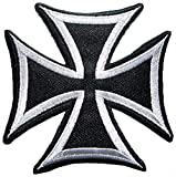 Patch Portal Maltese Cross Fire Large Badge Emblem 8 Inches Embroidery Design...