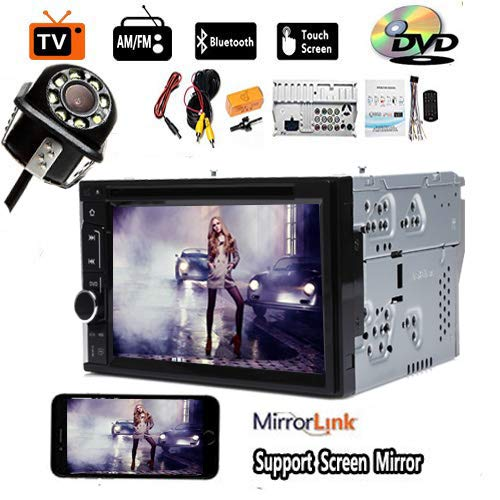 for Hummer H1 H2 07 06 05 04 03 Car CD DVD Player Support Steering Wheel Control USB Screen Mirror Link Bluetooth Radio AM FM 2Din Car Stereo and Backup Camera