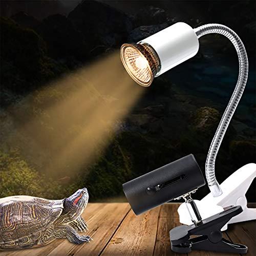 MGW Lámpara de Calor de Tortuga Lámpara de Calor de Escalada para Mascotas Luz de Calentamiento de Acuario Ajustable de 360 ° para Reptiles/Anfibios/lagartos/Tortugas/Serpientes