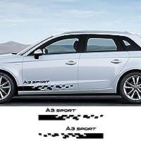 JIERS アウディA1 A2 A3 8p 8v 8l A4 b5 b6 b7 b8 b9 A5 A6 c5 c6 c7 A7 A8 Q2 Q3 Q5 Q7 Q8 TT、カーステッカーサイドストライプカーアクセサリー