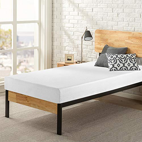 Zinus Memory Foam 6 Inch Green Tea Cot Size Mattress, Narrow Twin, White
