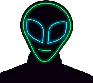 GlowCity Light Up Alien Mask-Great for Halloween-Costume Party's-LED Mask