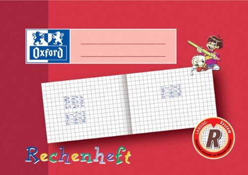 Zahlenheft A5-16Blatt quer Lin R Rechenheft 10x10mm Oxford 312501600 und 100050106, Verpackungseinheit: 20 Stück