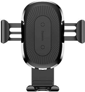 Suporte Carregador Veicular Indução Wireless 10W Fast Charger para Carro Baseus Gravity Preto, Baseus, WXYL-01, Preto