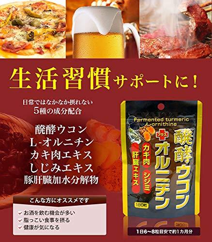 ユウキ製薬 SP醗酵ウコン+オルニチン 180粒