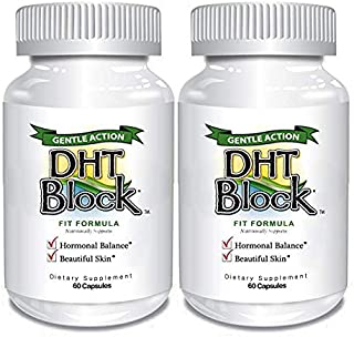 Sponsored Ad - DHT Block (2 Pack - 120 Capsules Total) DHT Blocker Supplement for Skin, Acne, PCOS, Hair, and Hormonal Bal...