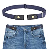 ANSTHS Buckle-Free Elastic Women Belt for Jeans Without Buckle, Comfortable Invisible Belt No Bulge No Hassle (Blue, Plus Size)