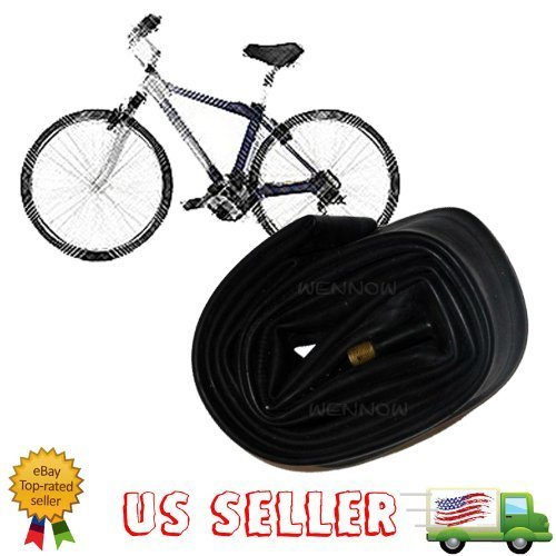 wennow bike cables WennoW New 26 Inch Bicycle Rubber Inner Tube Fits 26 Inch Tires