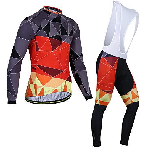 Maillot Ciclismo Hombre MTB, Pro Team Men Ropa de Ciclismo de Invierno,...