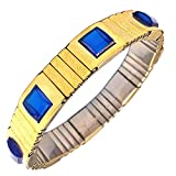 Zonarwood® Gold Plated Magnetic Therapy Bracelet for Weight Loss Beneficial in Blood Pressure