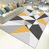 AU-SHTANG alfombras Pasillo largas y Modernas Alfombra Amarilla, patrón de...