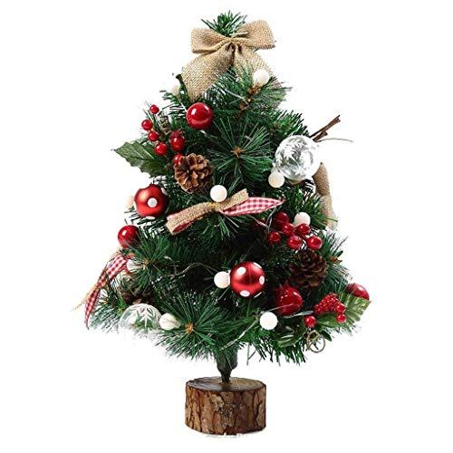 ZPBDC - Árbol de Navidad para decoración de escritorio (50 cm)