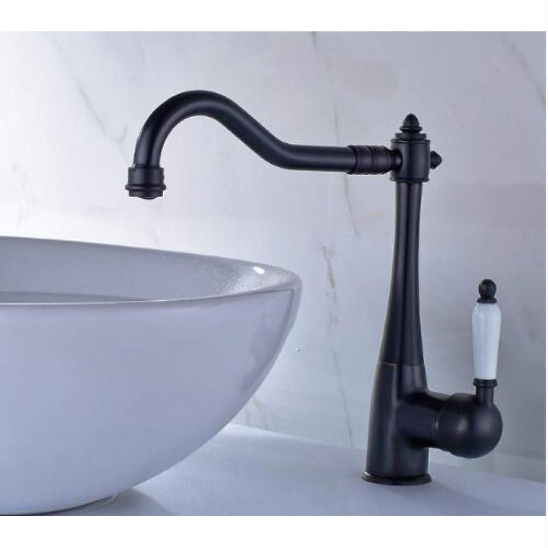 Lddpl Kitchen Sink Faucet Chrome Cold and Hot Porcelain Handle 360 Degree Swivel Bathroom Wash Basin Faucet Tap