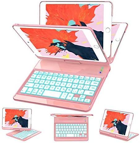 iPad Mini 5 Mini 4 Keyboard Case 7 Colors Backlit 360 Rotate 180 Flip Wireless Smart Folio Auto product image