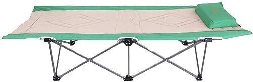 Lits et Cadres de De Camping De Bureau De Camping d'alpinisme Extérieur Articles De Voyage Mobilier De Loisirs De Jardin Chaise Longue (Couleur   vert, Taille   189  72  42cm)