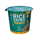 Contains (6) 2.05 Ounce cups of Lotus Foods garlicky Veggie rice Ramen Noodle Soup Our freeze-dried soup cubes are packed with big pieces of veggies and gourmet spices that deliver a whole new ramen soup experience. These new rice Ramen Noodle Soup c...