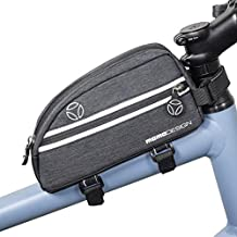 MOMODESIGN Bike • Bicycle Top Tube Bag • Weather Resistant • Cycling Storage for Essentials • Reflective Design