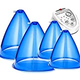 ZYQDRZ Vacuum Cupping Machine Accessories, 160Ml 180Ml Giant Cup, Vacuum Therapy, Buttocks Lifting Body Massage, Beauty,Blue,4PCS
