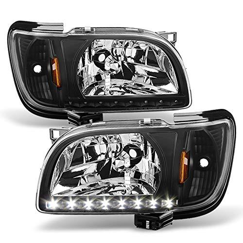 ACANII - For 2001 2002 2003 2004 Toyota Tacoma Headlights Headlamps +LED Lights 2in1 Corner Signal Driver&Passenger Side