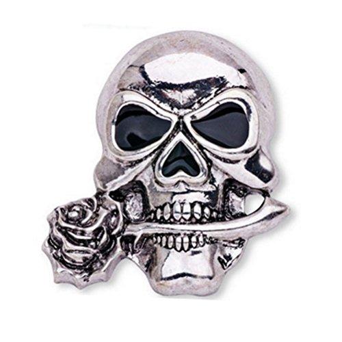 LUOEM Brosche Brosche Gothic der Schädelknochen Skelett Brosche Elegant für der Anzug der Party-Nacht