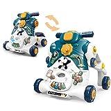 KAILUN 3IN1 Andador para Bebés, Correpasillos, Caminador para niños, Primeros Pasos con Música y Luces, Plegable,B