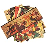 CoolChange Naruto Vintage Poster Set | Shinobi Retro Sepia