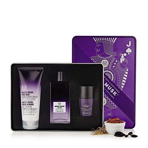 The Body Shop Musc blanc Coffret cadeau pour homme avec Musc blanc Eau de toilette + Gel corps et cheveux + Déodorant Musc blanc
