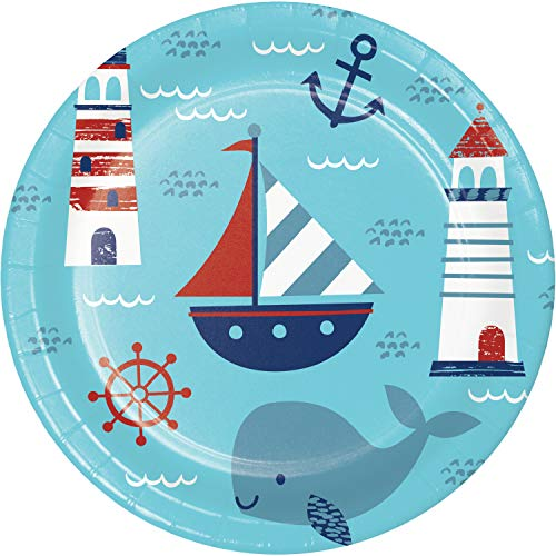 Best Deals! Nautical Baby Shower Paper Plates, 24 ct