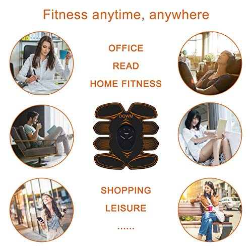Abs Stimulator Muscle Trainer Ultimate Abs Stimulator Ab Stimulator for Men Women Abdominal Work Out Ads Power Fitness Abs Muscle Training Gear Workout Equipment Portable Stimulator (orange01)