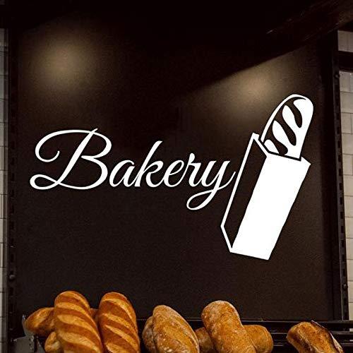 Tianpengyuanshuai Gebäck Bäckerei Bäckerei Kuchen Keks Lebensmittel Wandtattoo Vinyl Dekoration Küche Fenster Aufkleber 102x59 cm