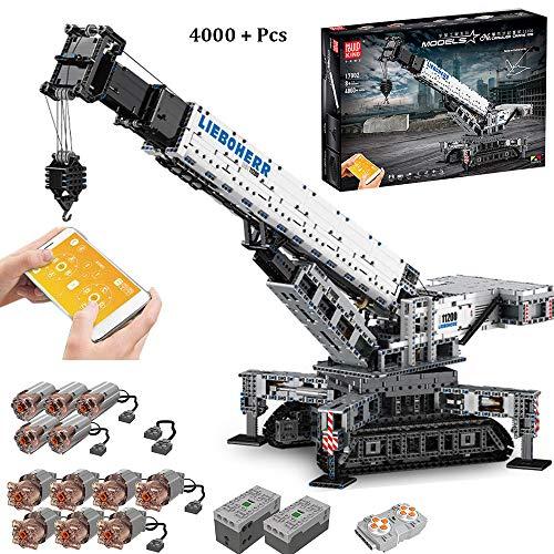 LODIY Technik Liebherr 11200 Kran mit 12 Motor, 4000 Teile Technik Ferngesteuert Raupenkran LKW-Kran Kompatibel mit Lego Technik