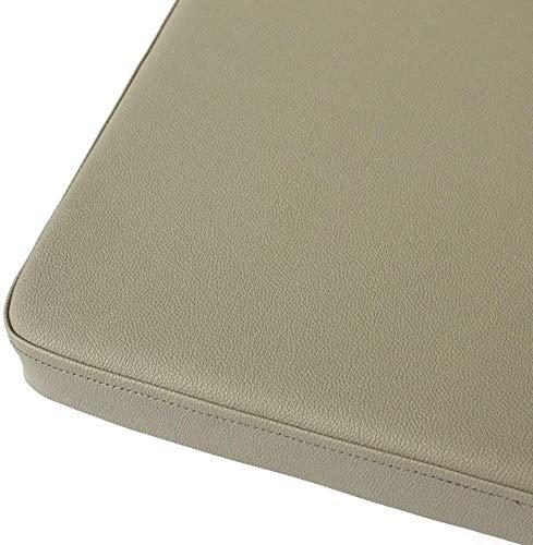 HYDD Cojín de Silla de Cuero de PU,Engrosado Cojín de Asiento Cuadrado Impermeable en Color sólido con Cremallera para sofá Cojín de Oficina para automóvil Ducha-café 40x40x8cm (16x16x3)