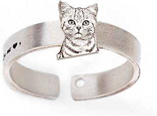 engraved pet photo necklace