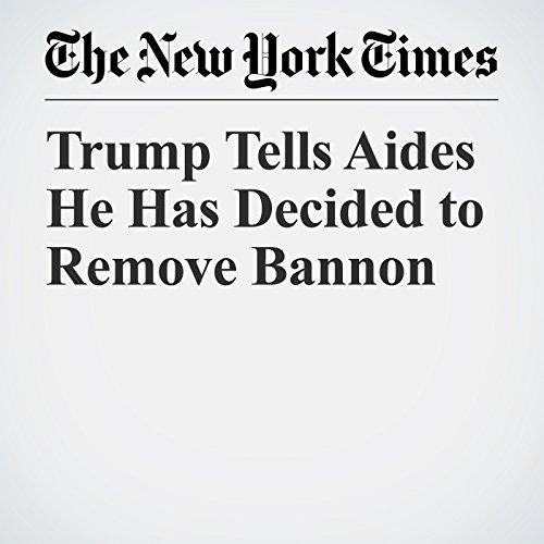Trump Tells Aides He Has Decided to Remove Bannon copertina