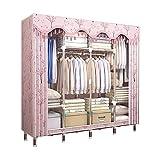 ZZYE Armario de tela Armario para ropa para colgar, ropa de armario extra fuerte y duradero, trabajador lavable, organizador...