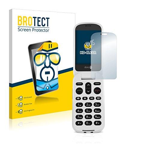 BROTECT Schutzfolie kompatibel mit Doro 6050 (2 Stück) klare Bildschirmschutz-Folie
