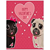 Diamond Painting Kits for Home Greeting Card Valentines Day Cute Pugs DIY Diamond Painting Kit Color Diamond Painting Paint by Numbers Arts Craft for Home Wall Decor