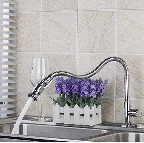 Keukenkraan alleen koud water keuken eenlokraan Pull Up Fini chroom keukenkraan draaibaar