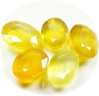 Natural Yellow Sapphire Gemstone 60 Carat 5 Pieces Loose Gemstone Lot Oval Cut Birthstone Jewelry Making