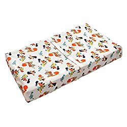 9. QUENESS Store Baby Dinosaur Changing Pad Cover