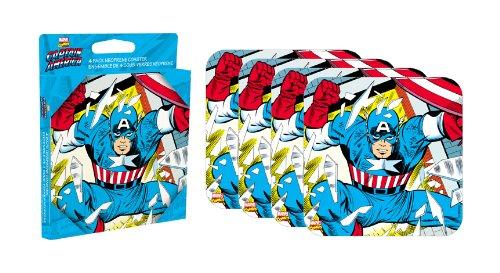 Aquarius Captain America Lot de 4 Dessous-de-Verres en néoprène (nm)