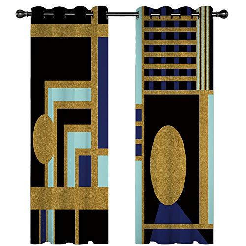 """KYLN 2 Sätze Verdunkelungsvorhänge, undurchsichtige Hühneraugen, verdunkeln die Schalldämmung des Wohnzimmers und die Wärmedämmung mit Hühneraugen Ägyptischer Stil 66""""x72"""""""